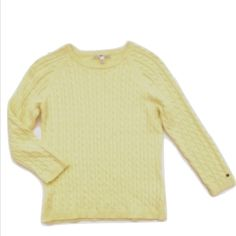 "Tommy Hilfiger 3/4 sleeve sweater 100% cotton. Great spring weight or cool summer night sweater. Bust:16"", length:20"" runs small, slightly fitted Tommy Hilfiger Sweaters"