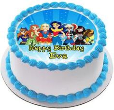 DC Superhero Girls Edible Birthday Cake Topper OR Cupcake Topper, Decor