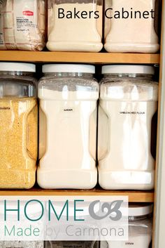 """Create organizing """"zones"""" for your kitchen. The bakers cabinet is everything you need to bring out your inner baker!"""