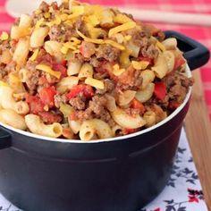 Southwestern Cheddar Chili Mac