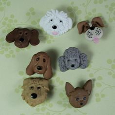 Assorted Puppy Dog Face Novelty Buttons by forbeadintreasures, $2.50
