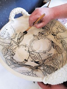 My work is a lot about surface decoration. And a well-crafted canvas to put the pattern on is essential to my creativity. There is something extraordinary with the three dimensions of a pot; the inside and the outside surfaces give the possibility of storytelling that a two-dimensional canvas cannot.