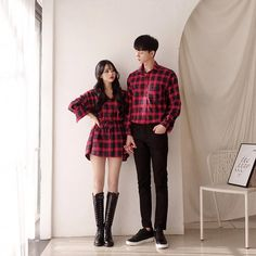 Look at this Awesome korean fashion outfits Korean Fashion Trends, Korean Street Fashion, Korea Fashion, Trendy Fashion, Outfits Casual, Cute Outfits, Fashion Outfits, Mode Ulzzang, Matching Couple Outfits