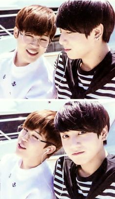 At first Jungkook is like *yeah, jimin that is totally funny, I get it!* looks at camera*....help me!*