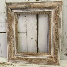 Distressed frame large farmhouse wood and gesso antique wall hanging painted aged wall hanging home decor by anita spero design