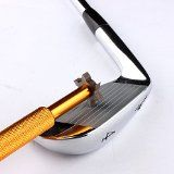 Golf Club Groove Sharpener with 6 Heads - Ideal for Optimal Backspin and Ball Control - Perfect Tool for Wedges and Utility Clubs - From Specialty Golf Products - Gold - http://tonysgolf.com/2015/02/28/golf-club-groove-sharpener-with-6-heads-ideal-for-optimal-backspin-and-ball-control-perfect-tool-for-wedges-and-utility-clubs-from-specialty-golf-products-gold-2/