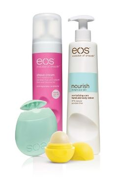 EOS products are all amazinggg. Shaving cream leaves legs super smooth, no razor bumps, freeze your eos chapstick and it cools down your lips w/a yummy flavor Lol Organic Lip Balm, Organic Skin Care, Hand Lotion, Body Lotion, Eos Products, Beauty Products, Free Products, Natural Products, Eos Lip Balm