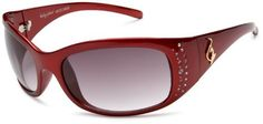 baby phat Women's 2025 Round Sunglasses,Hot Red Frame/Black Lens,one size Baby Phat. $50.08