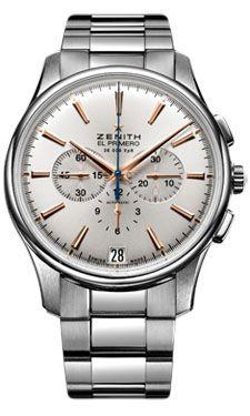 Zenith El Primero Captain Chronograph Stainless Steel (Style No: 03.2110.400/01.M2110) from SwissLuxury.Com
