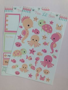 Decorating Kit Sea Life Stickers - Perfect for your Erin Condren Life Planner (#60) ~