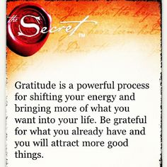 the law of attraction.... a nice reminder that I need