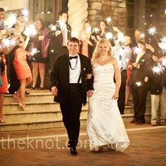 really love the sparkler send off. last time we had bubbles, for our next wedding we'll have sparklers @Alexis Geisler