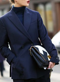 So in to navy right now. #fashion #style #trends