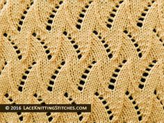 Lace Knitting. #27 Flame Chevron - Reversible Lace stitch