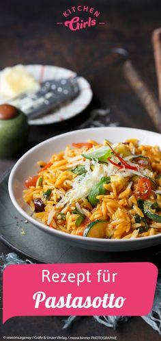 Recipe for pasta sotto: kitchengirls. - Recipe for pasta sotto: kitchengirls. Easy Dinner Recipes, Pasta Recipes, Tortellini, Rigatoni, Eating Habits, Ravioli, Pasta Salad, Noodles, Veggies