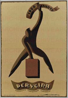 Federico Seneca Perugina. Cioccolato Confettura Caramelle, 1928