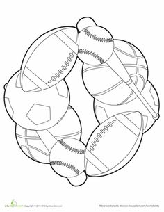 These preschool sports worksheets and coloring pages are sure to satisfy your little athlete. Get in the game with our printable preschool sports worksheets. Vbs Crafts, Camping Crafts, Preschool Crafts, Sports Coloring Pages, Preschool Coloring Pages, Coloring Worksheets, Theme Sport, Sport Sport, Sport Wear