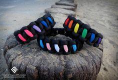 Bi, Trans, Gay paracord bracelet