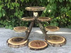 Perfect Union Wood Burned Rustic Cake Cupcakes Pie Stand Wedding party shower wooden 8 tiered, lumberjack party, boho, wild things are Perfekte Union Holz verbrannt rustikale Kuchen Cupcakes Tortenständer Cupcake Stand Wedding, Cake And Cupcake Stand, Wedding Cake Stands, Cupcake Cakes, Wedding Cakes, Cupcake Tier, Rustic Cupcakes, Rustic Cake, Rustic Cupcake Stands