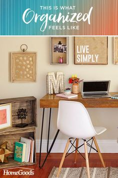 Find 4 ways to bring organization and inspiration into your home office at your local HomeGoods. Because all work and no play sounds like a chore.
