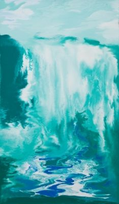 This is oil-falls1 / Oil on canvas, 2011 / 120 x 70 cm (47.2 x 27.6 inch)