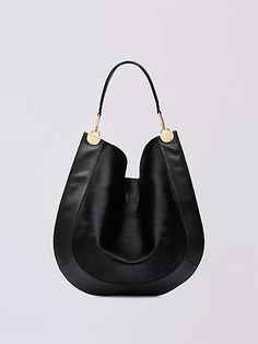 Large Calf Hair and Leather Hobo | Landing Pages by DVF