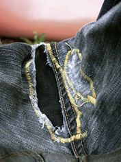 Fix the Crotch Hole in Your Jeans