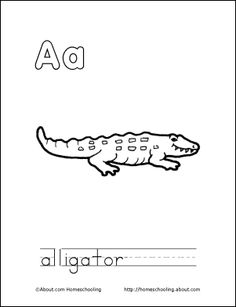 Print Out This Coloring Book About The Letter A For Your Child Preschool LearningColoring PagesColoring BooksAlligatorsDaily