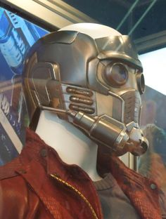 Original Star-Lord costume worn by Chris Pratt in Guardians of the Galaxy on display at ArcLight Sherman Oaks cinema on August 1, 2014.