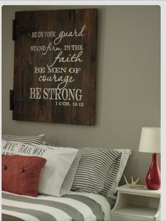 Love this scripture as decor.