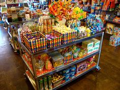 Colorful candy store