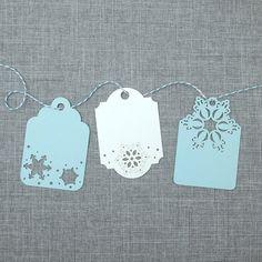 snowflake Laser Cut Christmas Gift Tags