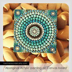 Saltwater Water Art Dot Painting Aboriginal Art by RaechelSaunders