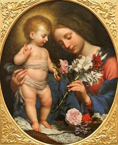 Carlo Dolci (1616 – 1686, Italian) - La Vierge au lys
