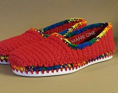 Manie One Crochet Slip On sneakers, Shoes for indoor & outdoor custom made to order