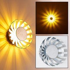 LED Wandleuchte Famosa Farbe silber 10 Watt 950 Lumen 3000 Kelvin warmweiss