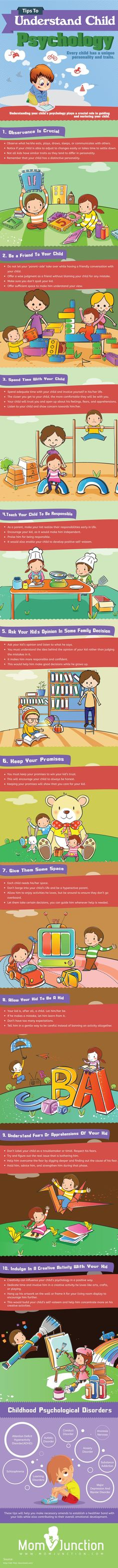 Every child has a unique personality. By understanding child pyschology you can help your child to cope with behavior problems like hyper activity, anxiety and many more.