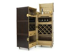 Mobile bar in pelle su ruote TRUNK   Mobile bar by Formitalia Group