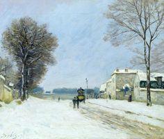 Alfred Sisley  Inverno, effetto di neve  1876