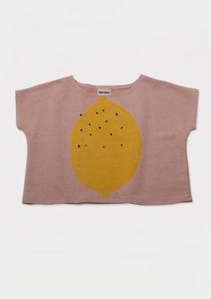 Sweat Shirt large fit S/S Lemon
