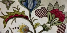 Mix wool fabric with crewel embroidery - The Rebellious Needlewoman