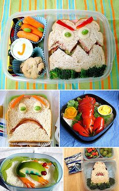 Healthy Halloween Lunches or anytime lunches for that matter! A great idea for those picky eaters--this may just win them over to eating their veggies!