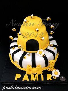 bee cake - pamir 1st birthday cake (Medium) by CAKE BY NESRİN TONG, via Flickr