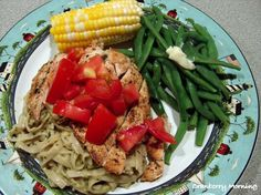 Cranberry Morning: My Favorite Dinner - Grilled Chicken with Basil Pesto Fettucini