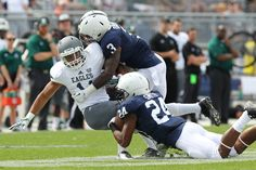 Penn State junior corner Da'Quan Davis has two years of experience and will be an important reserve player in the secondary this season. Football 2013, Football Season, Football Team, Football Helmets, Anthony Smith, Pennsylvania State University, Threes Game, Nittany Lion