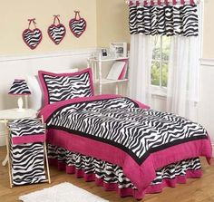 Image Detail for - Furniture Bedroom Designs Ideas and Decorating by Pm4 pink girls zebra ...
