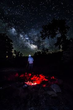 Milky Way Over Camp | by temp726