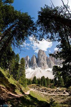 Sentiero Adolf Munkel Val di Funes, Alto Adige Italia