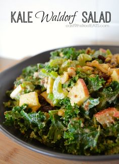 Kale Waldorf Salad Recipe  I love Waldorf salad and kale, gotta try 'me together.