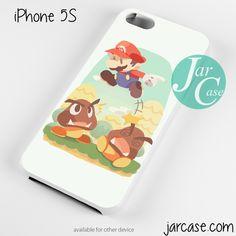 Mario jumping Phone case for iPhone 4/4s/5/5c/5s/6/6 plus